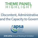 Theme Panel: Democratic Discontent, Administrative Instability, and the Capacity to Govern