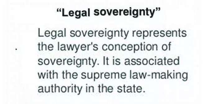 The basis of legal sovereignty