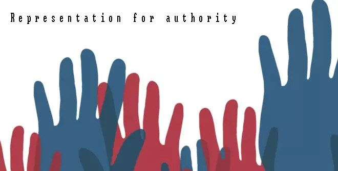 Representation for authority