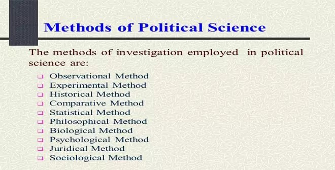 Methods of Political Science