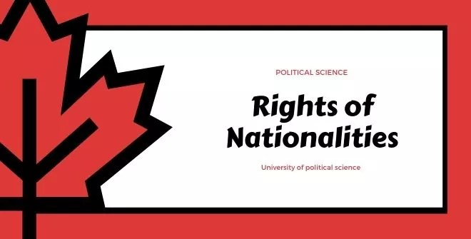 The Rights of Nationalities