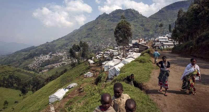 Un camp des réfugiers près de Beni. Photo: HCR