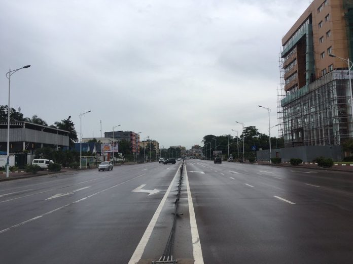Boulevard du 30 juin, centre-ville de Kinshasa, le 18 décembre. Photo DR.