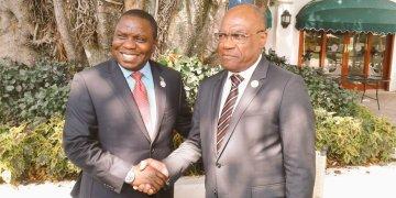 Léonard She Okitundu rencontre son homologue zambien: «relations excellentes»