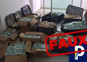 Non, il n'y a pas eu découverte d'une cache d'argent chez Abbas Kayonga