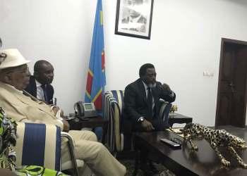 Joseph Kabila reçoit Antoine Gizenga au Palais de la nation