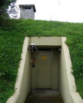 In the bunker