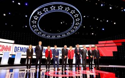 The big debate stage benefits the frontrunners