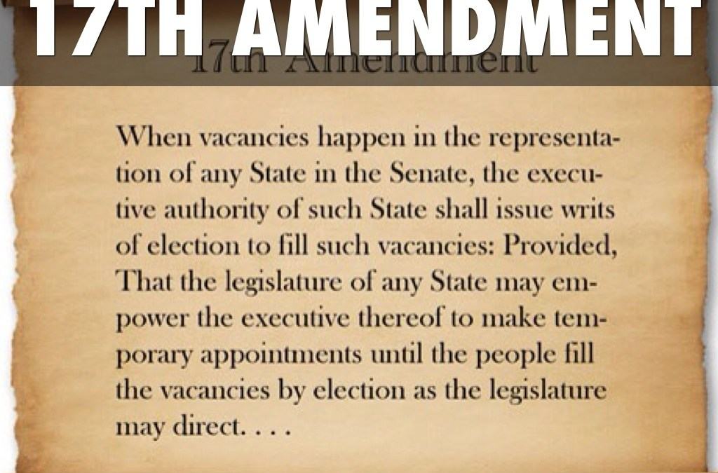 The 17th amendment and gerrymandering