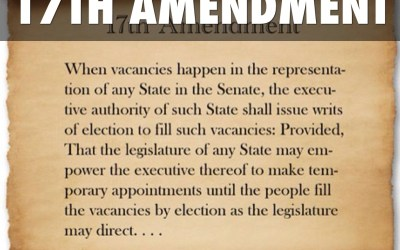 The 17th amendment and gerrymandering