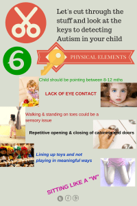 physical autism signs