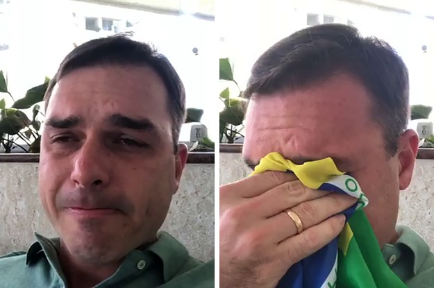 flavio bolsonaro chorando