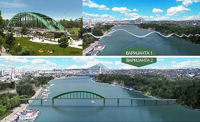 Anketom odlučeno da Stari savski most postane skulptura u parku Ušće 1