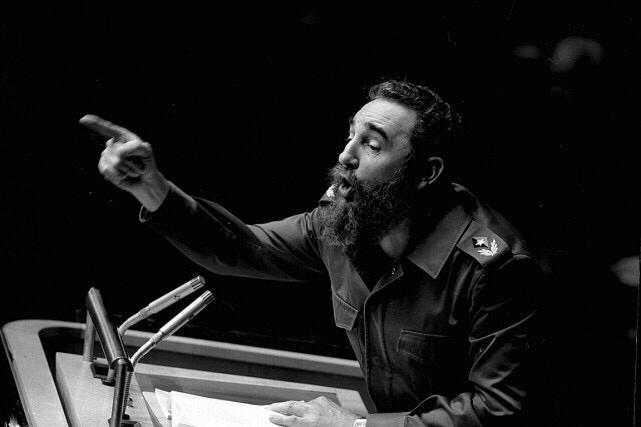 Fidel Castro a prononcé un secours devant l'assemblée générale des Nations unies, le 12 octobre 1979, à New York.