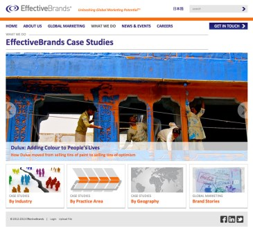EffectiveBrands Case Studies landing page