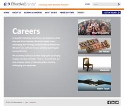EffectiveBrands Careers Landing page