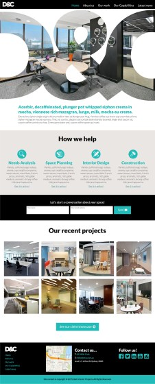 D&C Interiors Homepage