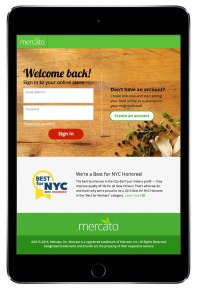 Merchant login on iPad