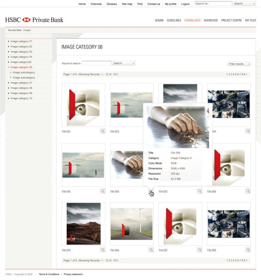 HSBC Identity Guidelines asset library