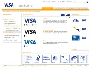 Sample guidelines for Visa Brand Central