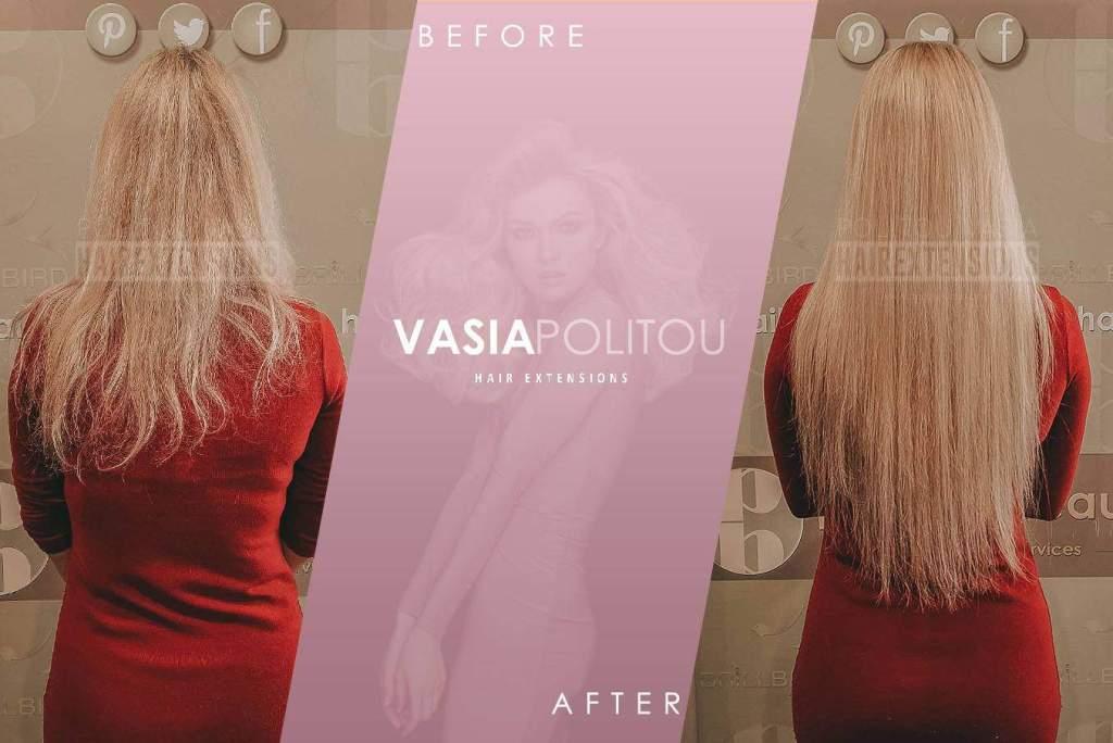 SHE hair extensions athens thessaloniki microrings politou vasia