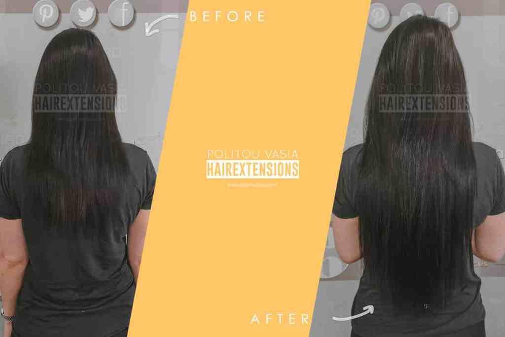 hair extensions thessaloniki athens microrings politou vasia