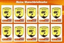 Die neuen Briefmarken des Polizeichor Dresden