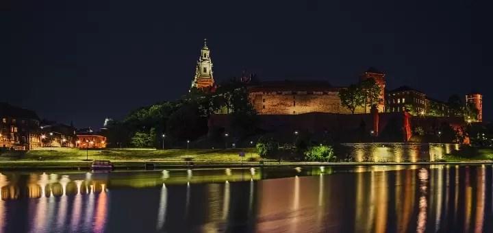 Kraków nocą.