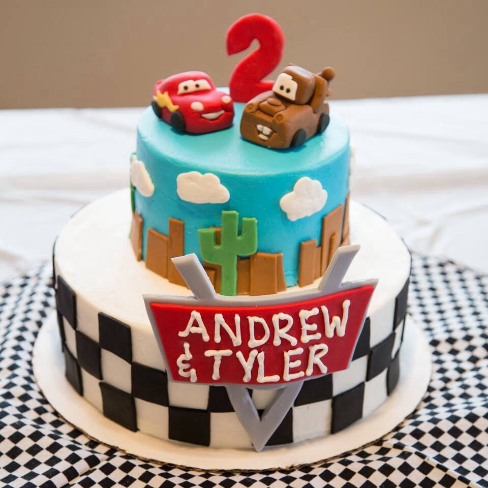 cars birthday cake disney cars themed birthday cake with mc and mater 2482