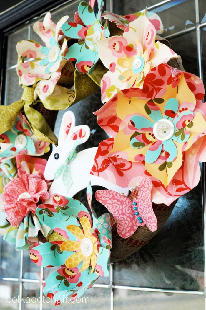 Tutorial Spring Flowers Easter Wreaths  The Polkadot Chair