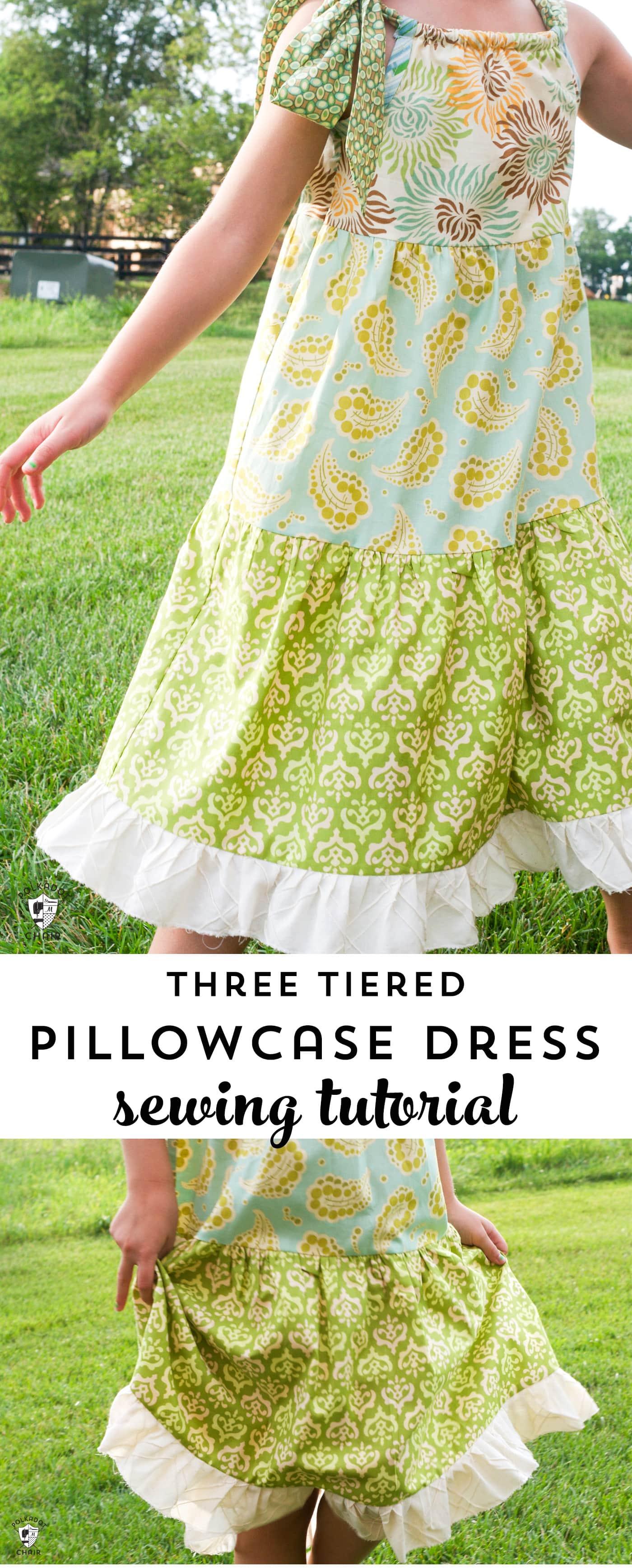 Tuesday Tutorial Tiered Pillowcase Dress  The Polkadot Chair