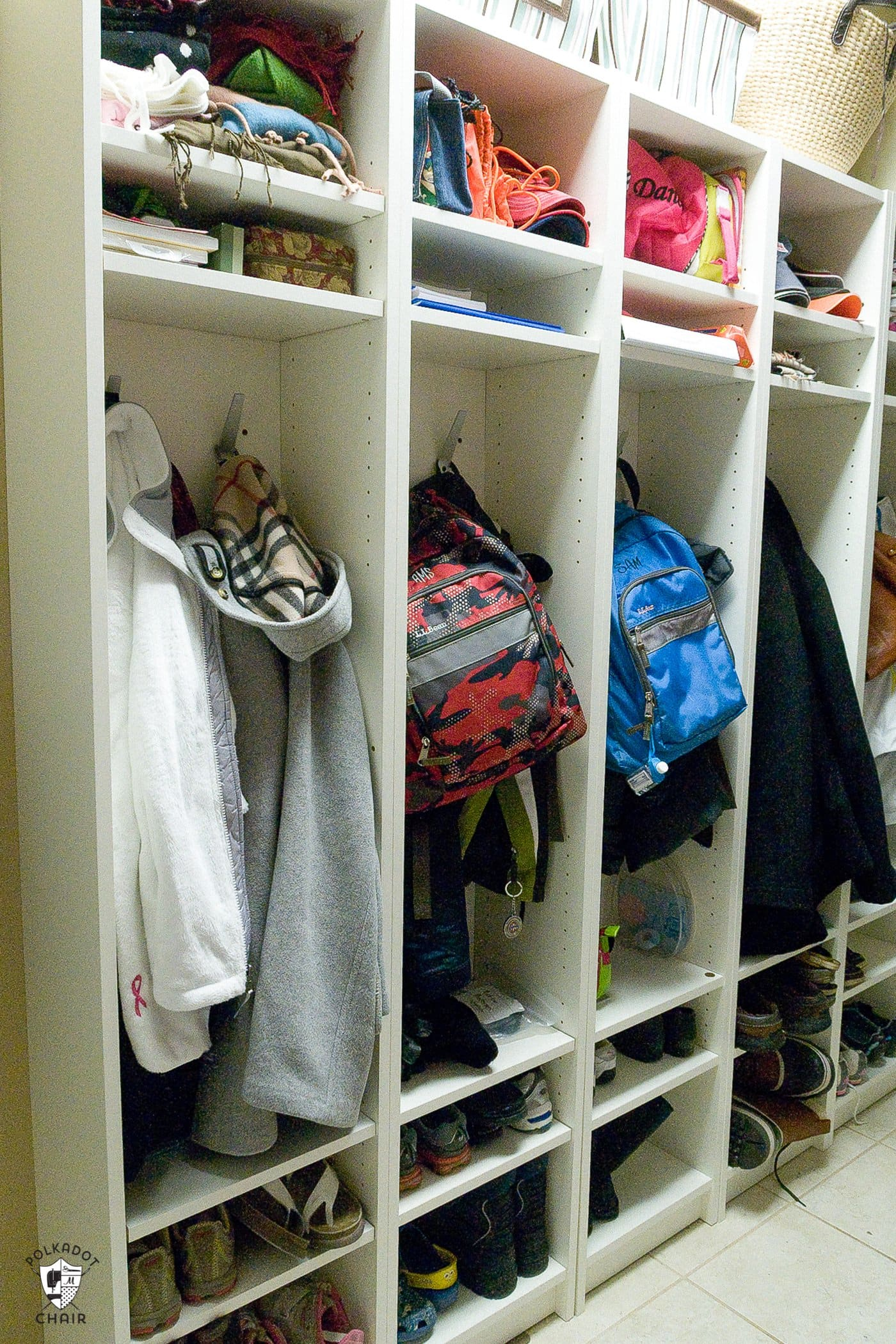 Ikea Hack Diy Mudroom Lockers From Ikea Bookcases The