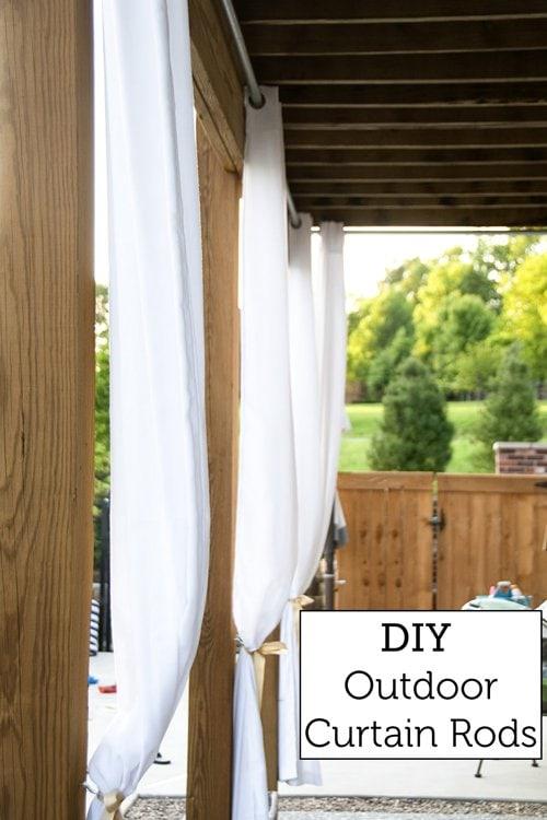 how to hang outdoor drapes diy outdoor