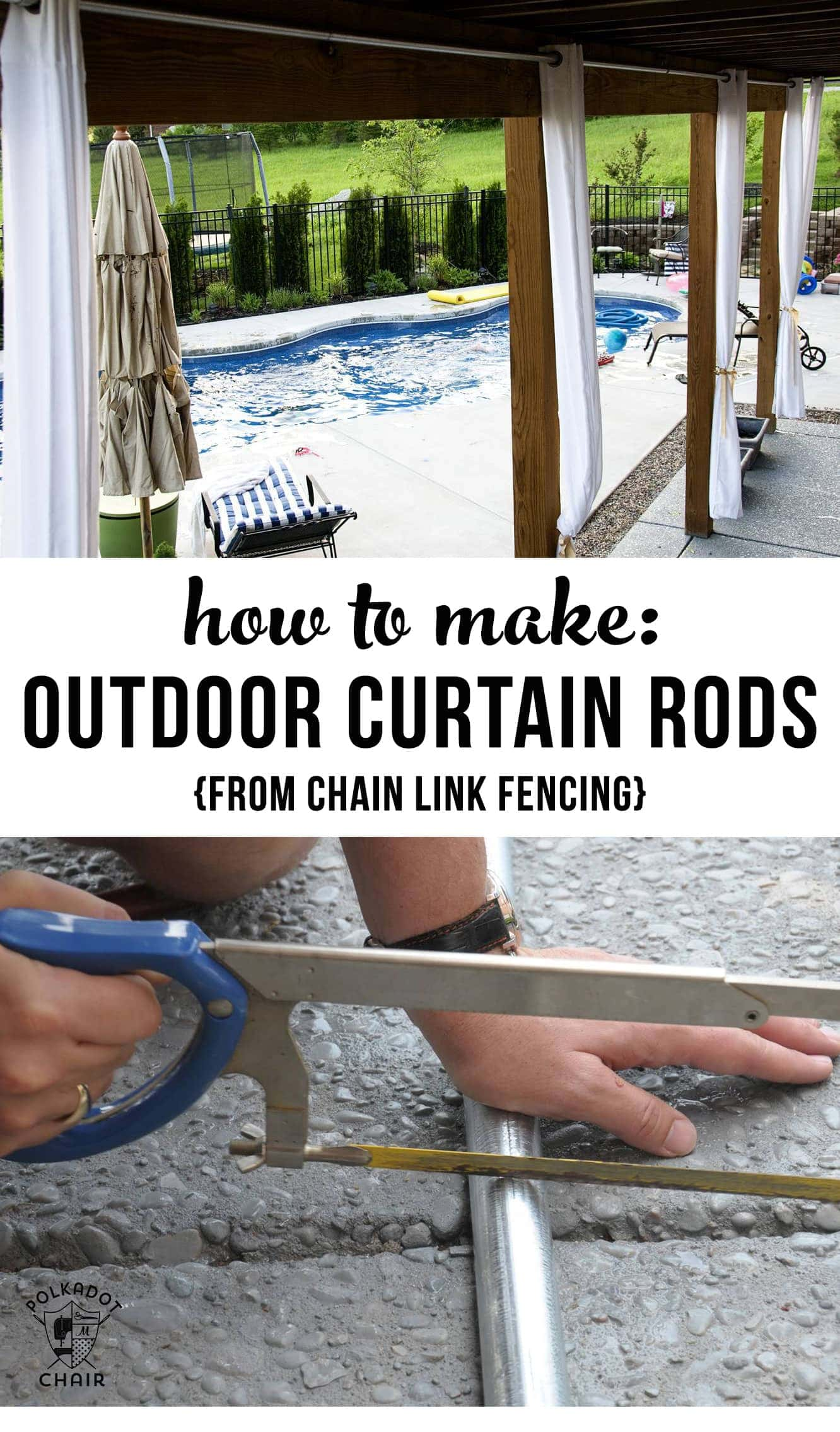 outdoor patio chair armless ghost how to hang curtains & diy curtain rods - the polka dot