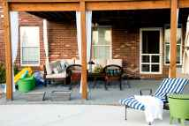 Hanging Outdoor Curtains - Polkadot Chair