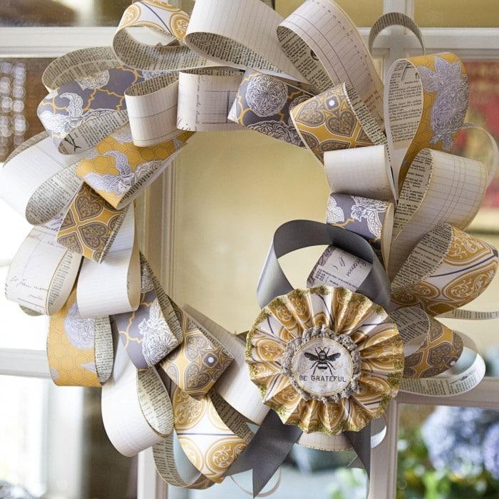 Grateful Wreath Tutorial  The Polkadot Chair
