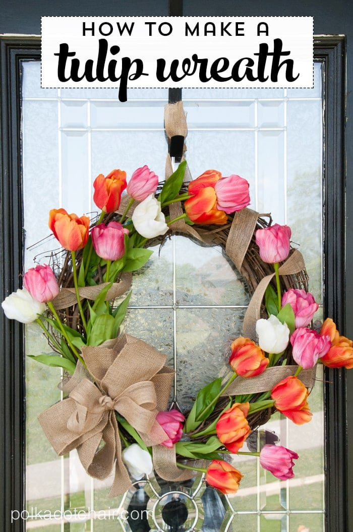 How to make a Tulip Wreath on polkadotchaircom