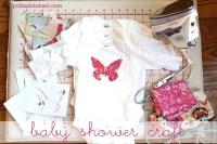 Baby Shower Crafts: Decorate Onesie's - The Polkadot Chair