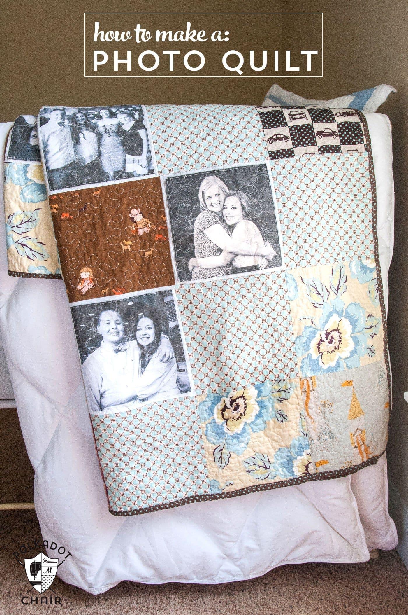 Photo Quilt a mini tutorial  The Polkadot Chair