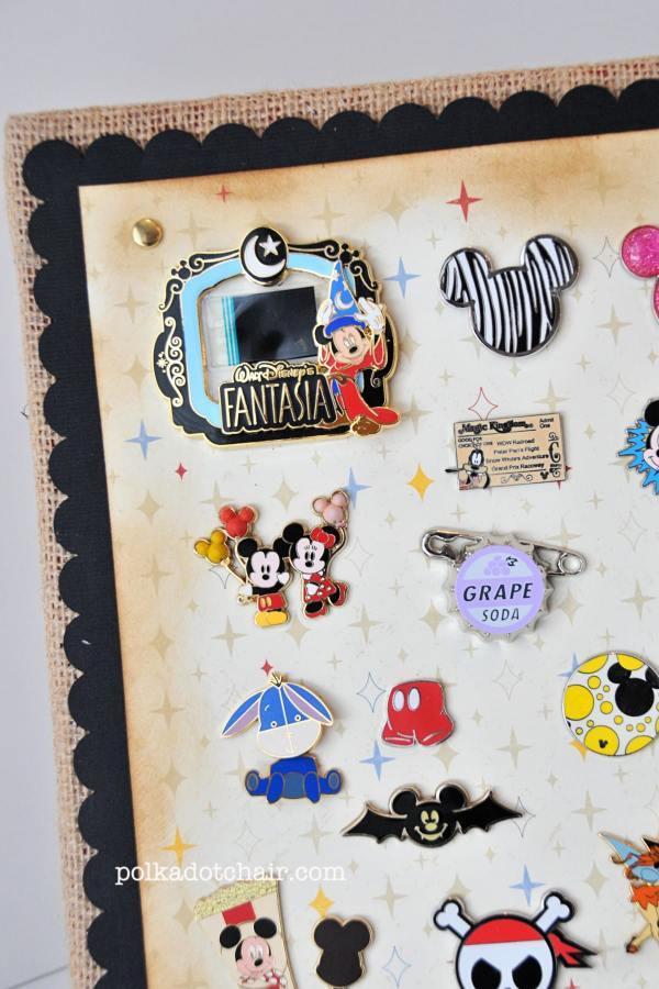 Diy Disney Pin Trading Display Ideas - Polkadot Chair