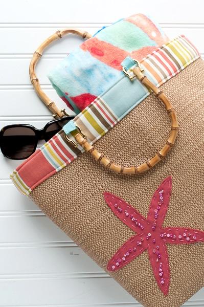 Beach Bound Straw Tote  a Beach Bag Sewing Pattern