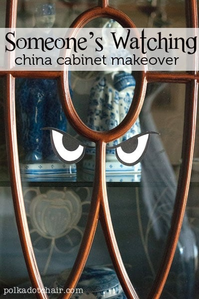 Spooky China Cabinet A Cheap Idea For Halloween Decorations
