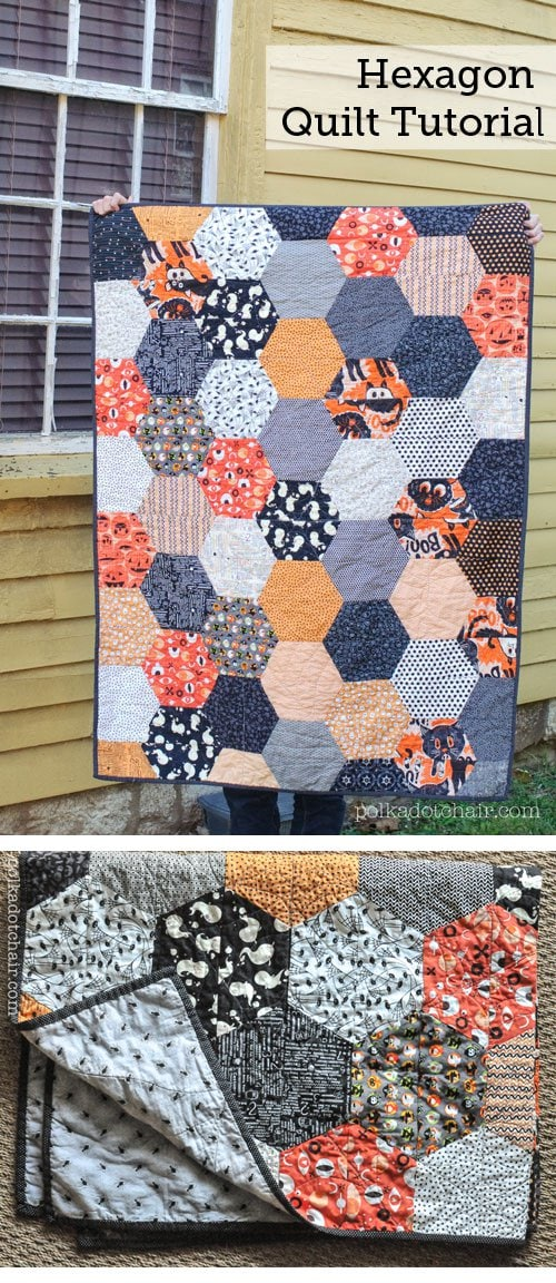 Large Hexagon Quilt Pattern and Tutorial  The Polka Dot
