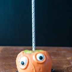 Orange Side Chair Used Power Wheel Chairs Candy Apple Monsters - Caramel Decorating Ideas