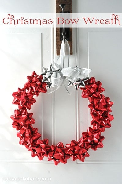 Christmas Wreath made from Bows