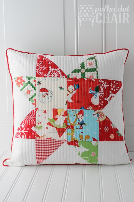 Patchwork Quilted Pillow sewing tutorial