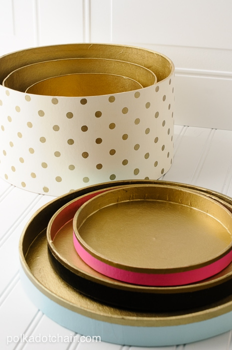 How to decorate hat boxes Polka Dot Hat box tutorial