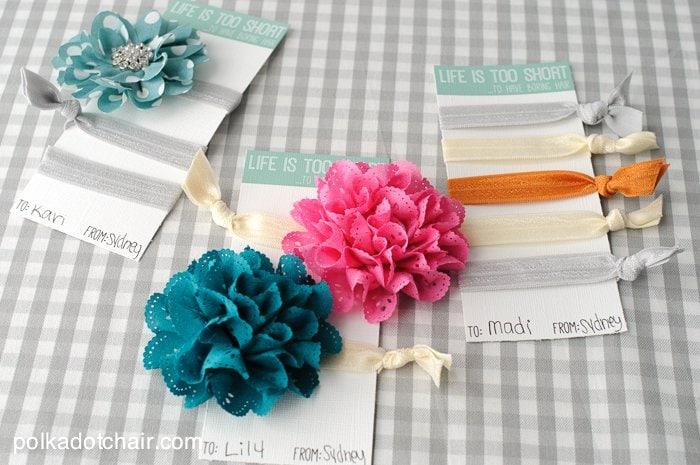 Free Printable Cards For DIY Hair Ties
