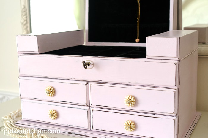 DIY Jewelry Box Makeover using Chalky Finish Paint on