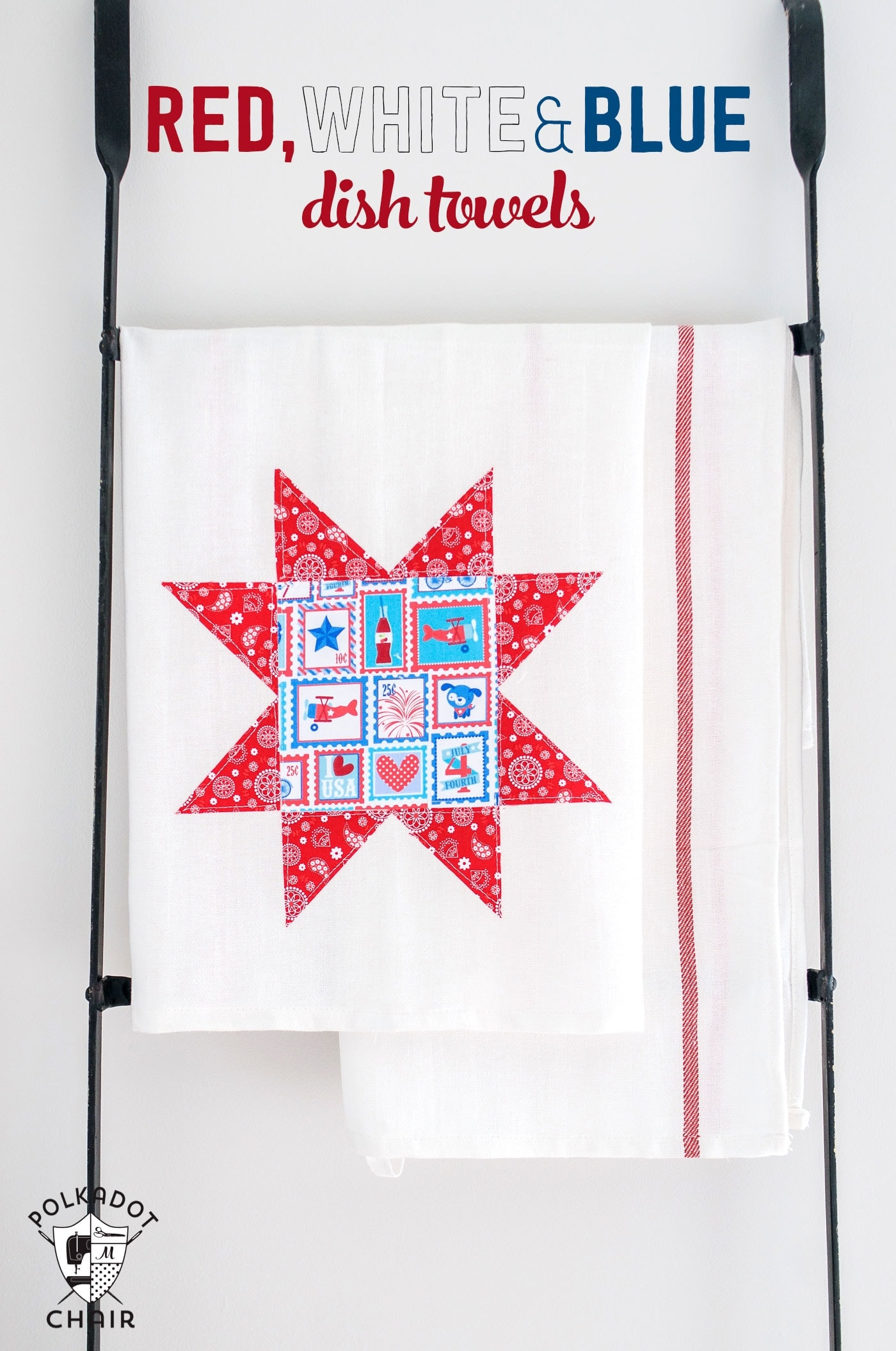 modern blue chair single sofa sale diy dishtowels and red, white 4th of july crafts